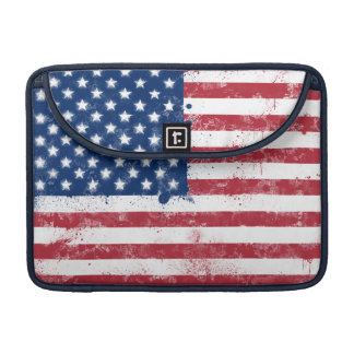 Splatter Painted Flag of the USA MacBook Pro Sleeve