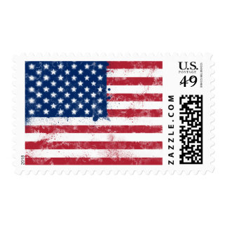 Splatter Painted Flag of the USA Postage