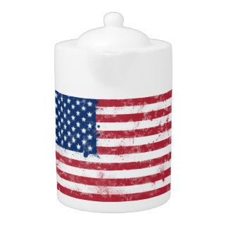 Splatter Painted Flag of the USA