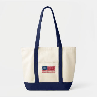 Splatter Painted Flag of the USA Tote Bag
