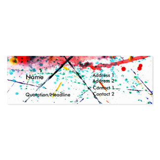 Splatter Profile Card Double-Sided Mini Business Cards (Pack Of 20)