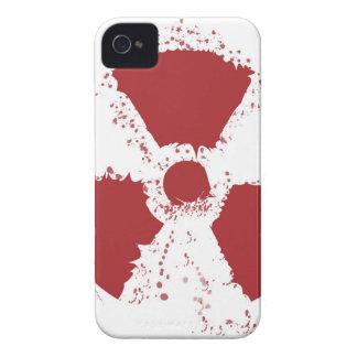 Splatter Radioactive Warning Symbol Case-Mate iPhone 4 Case