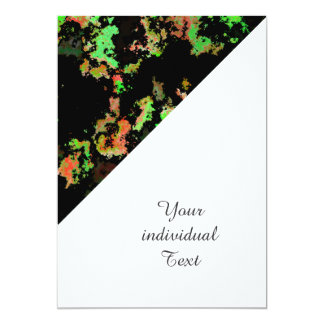 splatter red green 5x7 paper invitation card