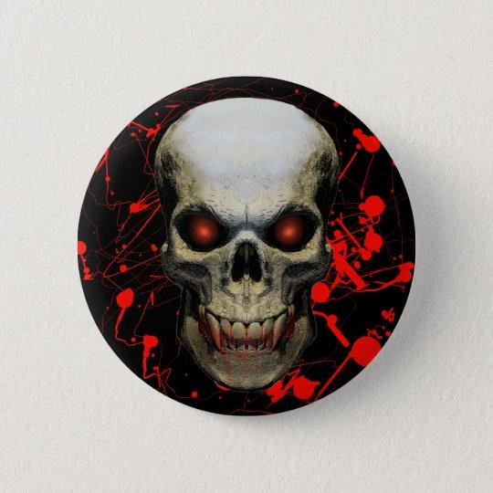 Splatter Skull Badge / Button