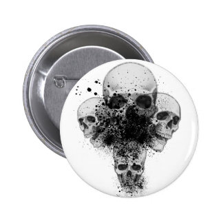 Splatter Skull Button