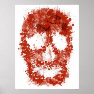 Splatter Skull (talk blood OF white) Poster