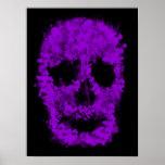 Splatter Skull (violet) Print