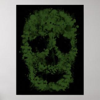 Splatter Skull - Zombie green Poster