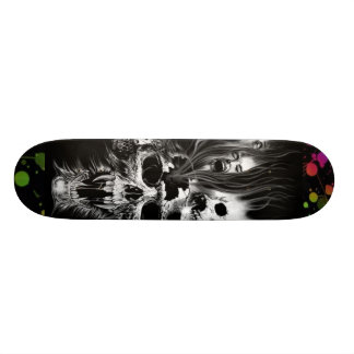 splatter, SKULLS Skateboard Deck
