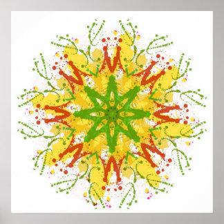 Splatter Snowflake Poster