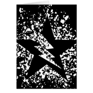 splatter star greeting card