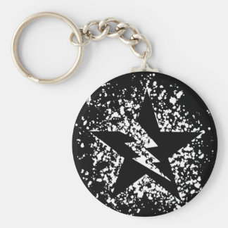 splatter star keychain
