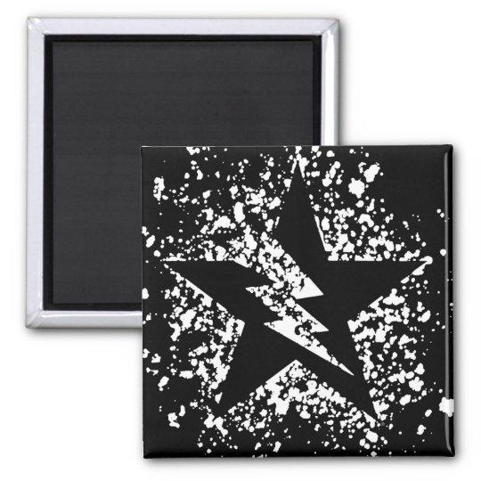 splatter star magnet