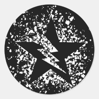 splatter star stickers