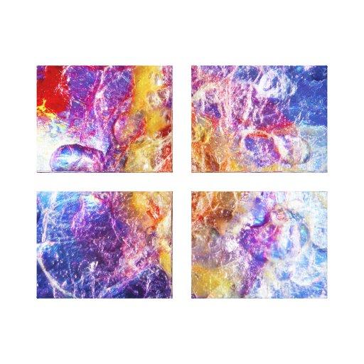 Splatter Stretched Canvas Print