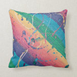Splatter! Throw Pillow