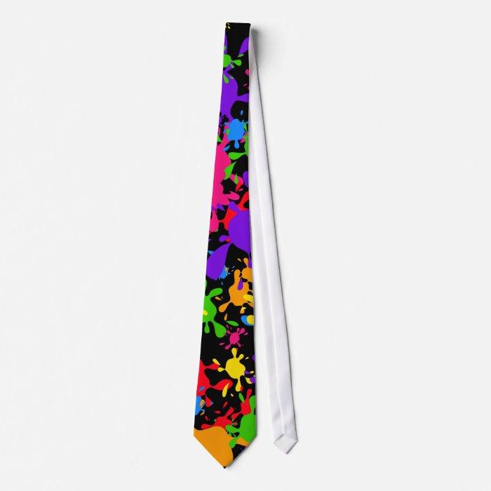 Splatter Wallpaper Neck Tie