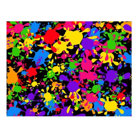 Splatter Wallpaper Postcard