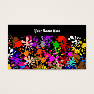 Splatter Wallpaper, Your Name Here Business Card