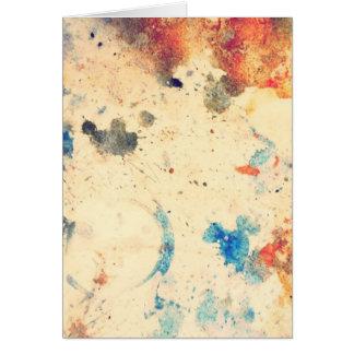 splatter, watercolor card