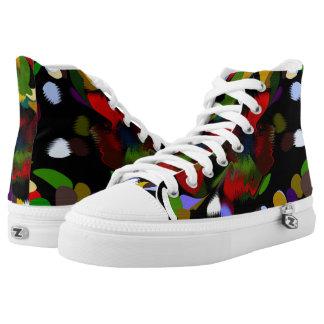 Splatter Zipz High Top Shoes