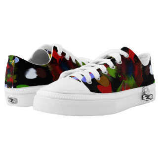 Splatter Zipz Low Top Shoes Printed Shoes