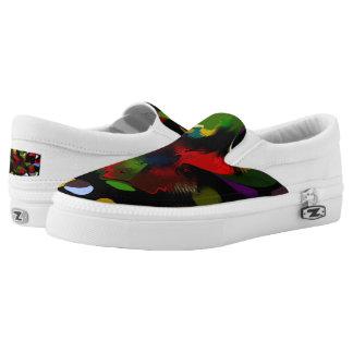 Splatter Zipz Slip On shoes Printed Shoes