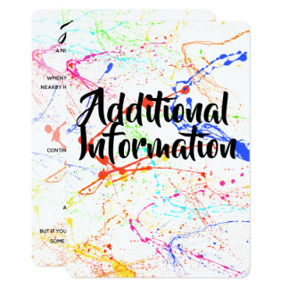 Splattered Additional Information Card