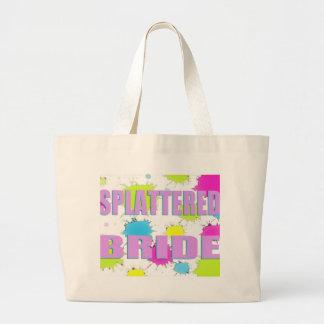 splattered bride jumbo tote bag