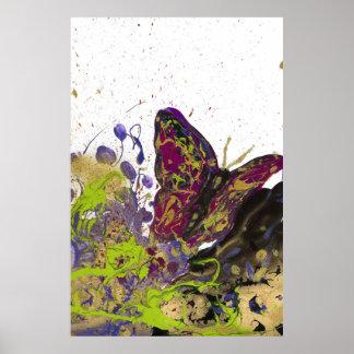 Splattered Butterfly Matte Print 32 x 48