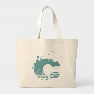Splattered C Jumbo Tote Bag