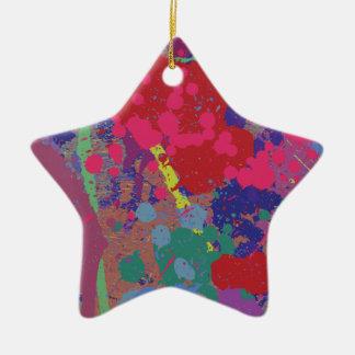 Splattered Ceramic Ornament