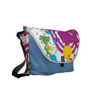 Splattered Disarray Messenger Bag
