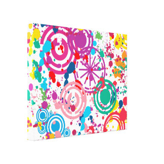 Splattered Disarray Wrapped Canvas