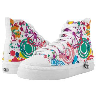 Splattered Disarray Zipz High Top Shoes