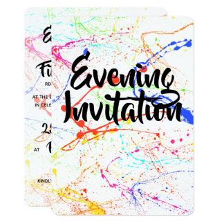 Splattered Evening Invitation