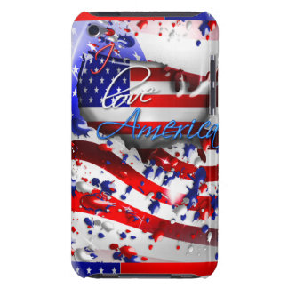 Splattered I Love America Flag Ipod Touch Case