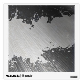 Splattered Urban Brushed Steel Wall Sticker