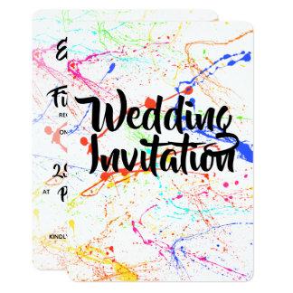 Splattered Wedding Invitation