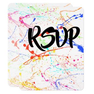 Splattered Wedding RSVP Card