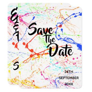 Splattered Wedding Save The Date Card