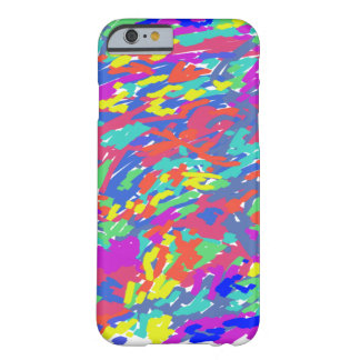 'Splattering of 80's' Abstract Digital Painting Barely There iPhone 6 Case