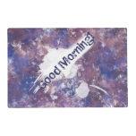 Splatterpaint púrpura salvamanteles