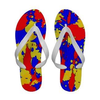 Splatters Flip Flops