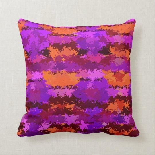 Splatters of Purple and Orange American MoJo Pillo Throw Pillow