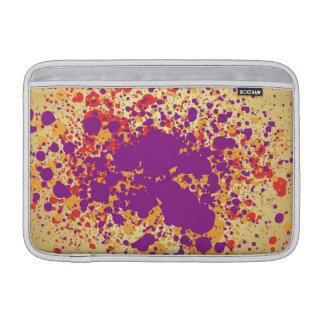 Splattters coloridos de la pintura fundas para macbook air