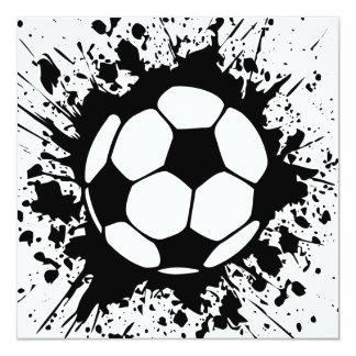 """splatz del fútbol invitación 5.25"""" x 5.25"""""""