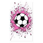 splatz del fútbol tarjetas de negocios
