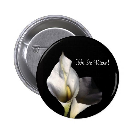 Splendid Blessed and Wonderful Easter Greeting Pinback Button