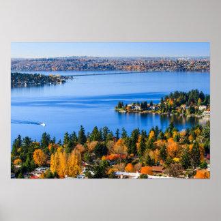 Splendid colors of fall at Bellevue Poster